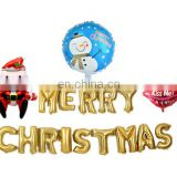 christmas set banner with santa claus and a slip inflatable helium air foil balloon for christmas decoration