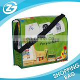 Promotional Gifts Color Photo Printed PP Woven Message Bag for Students