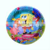 "Popular 7"" round cheap paper party plates for theme party"