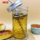Fashion ball diamond mason jar glass for juice wholesale