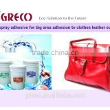 Bag spray adhesive for big area adhesion to clothes leather eva
