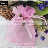 wholesale New design rose bloom wedding organza bag , can be mix color order