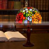 Creative Table Lamps,art deco lamp ,Tiffany Style rose Glass Table Lamps,Glass Shade Table Lamp
