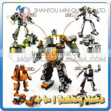 Mini Qute 4 in 1 super hero plastic robot changing model car building blocks brick model educational toy NO.MQ 038