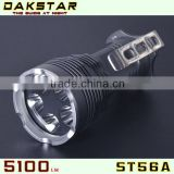 DAKSTAR New Arrival ST56A CREE XML T6 5100LM 18650 Rechargeable Aluminum LED High Power Heavy Duty Torch Light