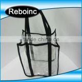 New model 2015 fancy clear plastic ladies hand bags