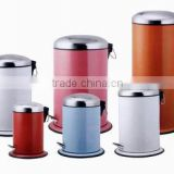 5 liter foot pedal stainless steel dustbin