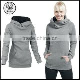 Latest Casual Heavyweight Split Joint Cotton Slim Fitted Women Hoodies