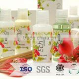 luxury hotel gel bottle /luxury plastic sachet refillable lotion bottles