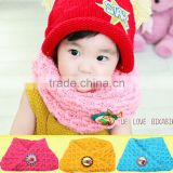 2015 Newest Cute Lovely Boy Girls Children's Solid Plain Acrylic Knitting Circle Loop Scarf