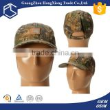 Hot sale army camouflage leather patch cheap baseball caps for sale