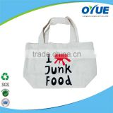 Factory good quality plain white cotton canvas tote bag