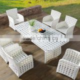 White Rattan Space-saving Dining Table And Chair(DH-9661)