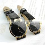 latest leather watches unisex leather wrist watches for promotion couple lovers leather watches alibaba supplier free sample