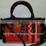 Handmade moroccan kilim bags and genuine leather