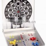 Hot selling magnetic travel dart board and ludo chess