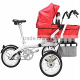 Cheap Electric 2016 Bike Mother Control Safe Baby Tricyclechildren Trikes With Inflatable Wheel Stroller 3 In 1