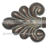 Home Decoration Accessories French Verdi Flur De Lis Finials; Window Drapery Rod Parts; Curtain Accessories Made in China