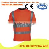 Polyester Material Visibility Security Safety Vest Jacket Reflective Strips Orange Yellow Work Wear Uniforms Clothing
