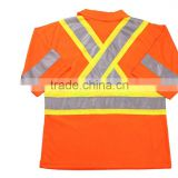 High Visibility Fluorescent Hi-Viz Reflective Safety Polo Shirt 2016 Newest 100% Polyester Two Tone