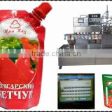 Tomato sacue / paste with Doypack package filling capping packing machine