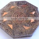 Wholesale Blue Aventurine Orgone Octagon Vastu Plate : Manufacturer of Orgonite Agate Products