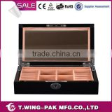 mirrored, velvet jewelry box, black lacquering, wooden and handmade jewelry box from China