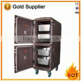 165L Coffee Double layer food warm container for delivery food, keep food warm container