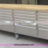 "Stainless steel 96"" tool cabinets on wheels"