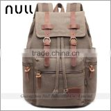 New fashion girls tops khaki color multi-pockets design functional custom umbrella holder canvas backpack