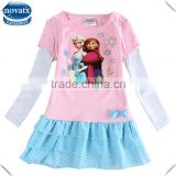 (H5720) 2-6y 2 colors nova kids newest 2015 frozen wholesale dresses elsa anna winter frocks baby clothes