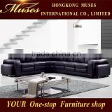 2015 latest top three full genuine leather sofa/ genuine leather corner sofa leather corner HS0079