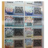 Transparent hologram stickers