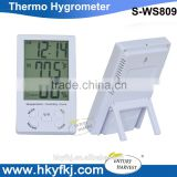 Wholesale price digital Thermometer Hygrometer Wall Desk Date Alarm Clock Calendar Lcd
