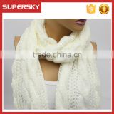 A-53 oversized cable infinity scarf cable knit chunky scarves winter cable knit scarf