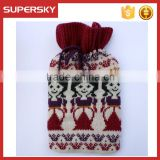 C1543 Jacquard Knitted Hot Water Bottle Cozy Cover