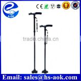 A-OK 2015 new adjustable electronic folding elderly walking stick cane with built-in lights as seen on TV