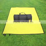 Portable Nylon Water-resistant Camping Mat ,Stadium Blanket,Beach Blanket ,plain fleece blanket