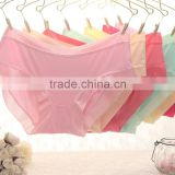 8831 Sweet girl candy color 100% cotton low waist underwear 2015
