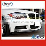 China manufacturer carbon fiber 2005-2010 FOR BMW E82 E87 1 series MT Style front bumper diffuser lip