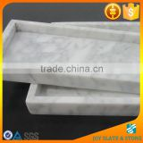 China factory carrara marble tray/sunny grey marble plate