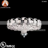 Catara silver leaf flush mount crystal ceiling Light