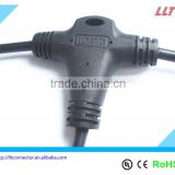 LED lighting 3-Way Molded Waterproof wire splitter T Connector