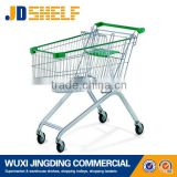 super market steel shopping cart with chair