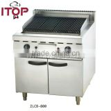 stainless steel with cabinet lava rock grill