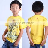 new 2016 led flashing lights up boys yellow bamble bee t shirt with 100% cotton fabric and cartoon logo