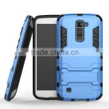 Ultra High Quality Combo Heavy Duty Hybrid Rugged Rubber Gel Armor Case for LG K10 factory price