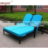 wholesale outdoor patio aluminum furniture General Use Material folding round double-seat lounge chair
