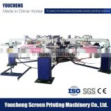 Multi color rubber ink t shert automatic silk screen printing machine price