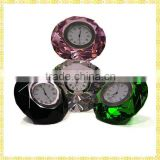 Unique Exquisite Luxury Diamond Crystal Mini Craft Clock For New Year Business Gifts Souvenirs